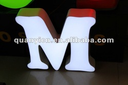 Acrylic LED channel letter signboard design