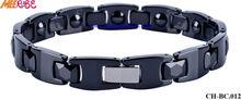 blue ceramic bracelets with magnet healthy element for men