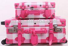 PU Luggage trolley case(hand made)