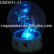 glass ball with LED light