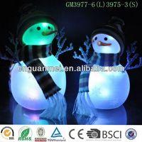 Wholesale new flat sitting christmas led light snowman