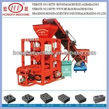 economical concrete bricks blocks making equipments / small input cement hollow bricks making machinery