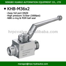 external thread high pressure 2 wayl inline port china ball valves 5000psi