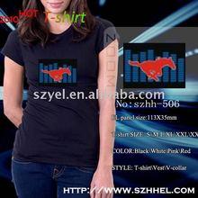 Animation Hot selling XXXL XXL XS Equalizer superman Music EL T-shirt