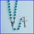 la moda de cristal rosario collar para la decoración