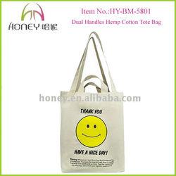 Cheap Dual Handles Tote Bag High Quality Hemp shopping bag