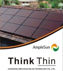 100W BIPV thin film amorphous silicon solar panel good quality