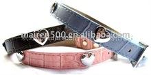 Beautiful PU leather Dog collars Pet collar Cat collar and leash for pet fashion