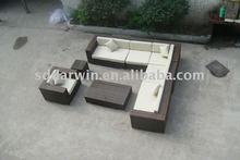 Garden Gray Rattan Ikea Wicker Sofa Furniture Set SV-5S08