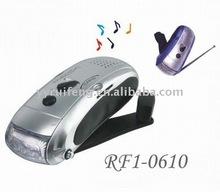 rechargeable led flash light dynamo radio