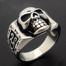 fashion skull biker gamber wholesale indian ring