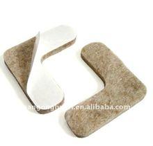 Self-stick felt pad for chair legs