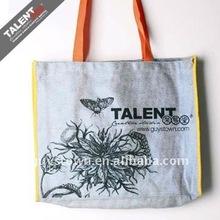 custom cotton canvas fabric shopping bag with logo printing