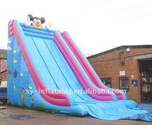 Giant inflatable toboggan slide
