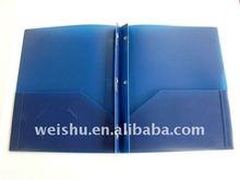 WS8523 2 pockets pollywog file Twin pocket portfolio w/ prongs