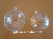 Christmas Plastic Transparent Open Ball Ornament