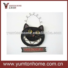 2012 famous halloween hanging home decoratives of Black cats welcome board