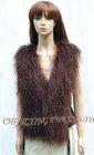 CX-G-B-122C Genuine Rabbit & Mongolian Fur Womans Vests Fashion