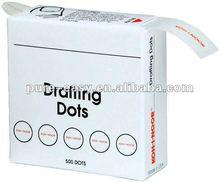 "Drafting Dots, 7/8"", White, Box Of 500"