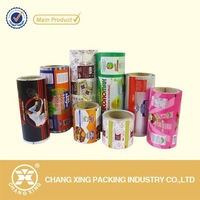 Gravure printing customized automatic sachet packaging film for instant coffee, seasoning, candy bar, small cake, etc.