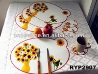 RYP2907 Set of 8pcs sunflower placemat