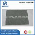 carbón activado de fibra de papel