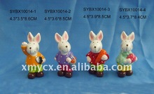 Ceramic cheap handmade halloween rabbit gifts