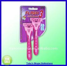 r318-2w stainless steel shaving razor / disposable razor/ double edge blade razor/ single / twin / triple blade razor
