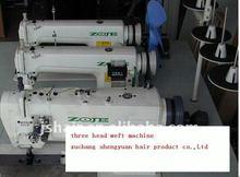 Hair weft sewing machine /three heads weaving machine