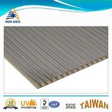6mm uv brown twinwall plastic polycarbonate sheet