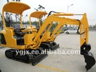 1.5 ton,hydraulic system, yellow color,rubber crawler belt, garden tools digger with best price and hammer