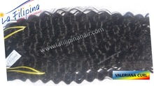 Valeriana tight curl hair extenions, 100% Filipino human hair