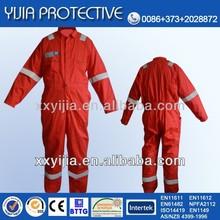 Proben orange cotton fire retardant coveralls for oil place
