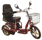 D-62 Luxury foldable electric trike with double driving