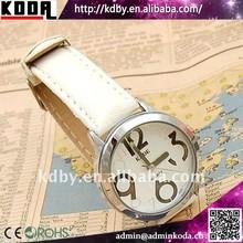 Cute fancy china smart rivets leather bracelet watch big number
