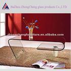 Modern bent glass coffee table