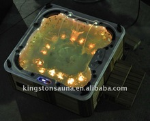 jets outdoor massage pool spa outdoor hot tub with 100 jets and 21 LED lights