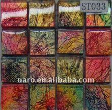 ST033 Polished aluminium colorful glass coating tile