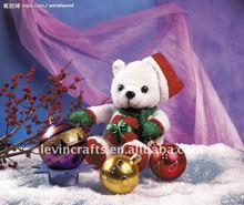 fashionable snow-white teddy bear christmas items gift