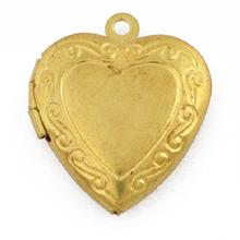 Gold Plated Filigree Open Heart Locket Pendant