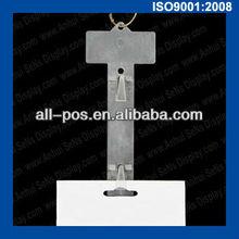 plastic hanging display clip strips for supermarket