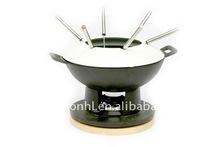 enamel cast iron fondue pot