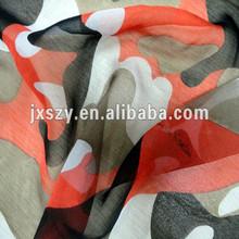silk chiffon printed camouflage silk chiffon fabric