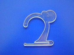 Plastic small accessory hanger H 9