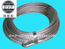 "7x19-3/8""galvanized steel wire rope with aluminium sleeves"