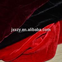 silk velvet plain color fabric