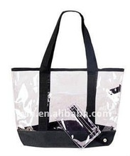 Hot best selling PVC plastic beach tote bag with nice design
