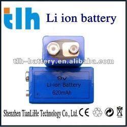 9v 620mah li-ion rechargeable battery