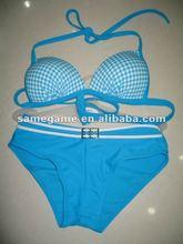 blue swimwear from china