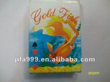 Peixe de ouro plástico ou Material de papel cartão de jogo